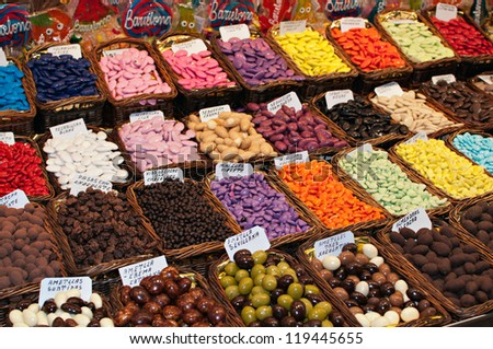 Store specializing in the sale of chocolate - stock photo