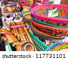 Store traditional products, Andes, Chile - stock photo