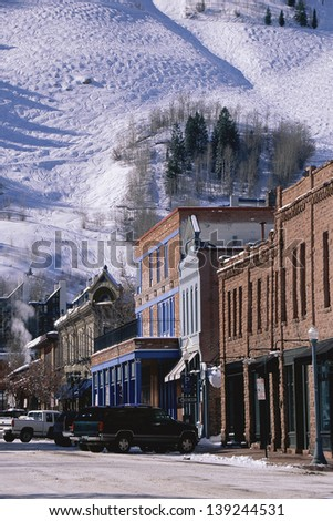 Storefronts, Aspen, Colorado - stock photo