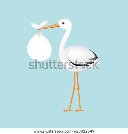 Birth Announcement Images RoyaltyFree Images Vectors – Stork Birth Announcement