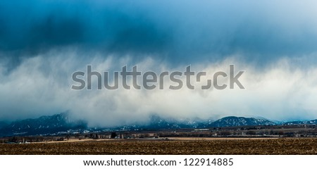 Storm Across The Foothills Of Colorado
