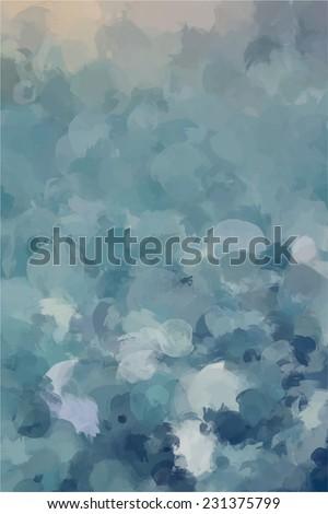 Storm brush stroke paint. Abstract illustration. - stock photo