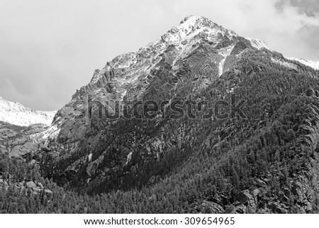 Storm clearing over the mountains, Sangre de Cristo Range, Colorado Rockies - stock photo