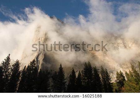 Storm clears over El Capitan - stock photo