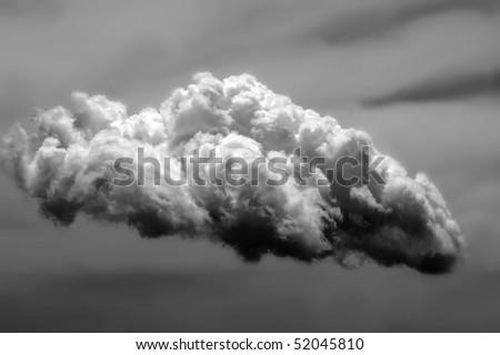 storm cloud - stock photo