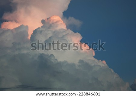Storm cloud in the sky - stock photo