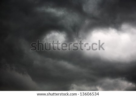 Storm Cloud rotation, the beginning of a tornado