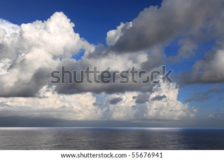 Storm clouds in the Cayman Islands - stock photo