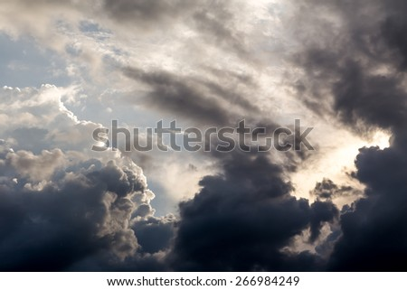 storm clouds in the sky - stock photo