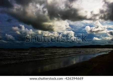 Storm clouds in the sky in the sea.clouds nature.sky nature. sea nature.storm nature.clouds nature.sky nature. sea nature.storm nature.clouds nature.sky nature. sea nature.storm nature.clouds nature. - stock photo