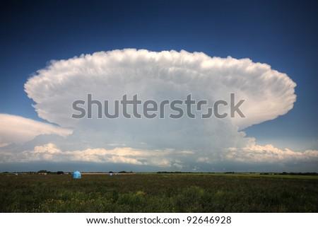 Storm clouds over Saskatchewan - stock photo