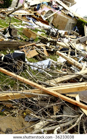 storm damage - stock photo