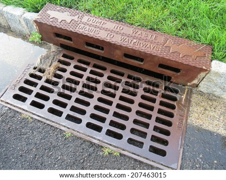Storm drain. - stock photo