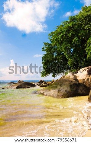 Storm Exotic Surf - stock photo