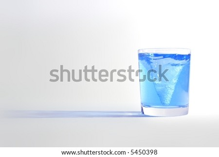 storm in a glass 2 - stock photo