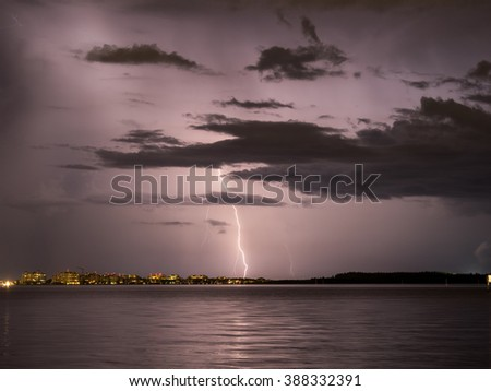 Storm in South Beach - stock photo