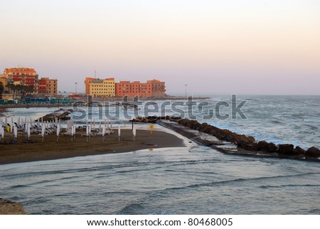Storm in the Bay of Anzio - Rome - Italy