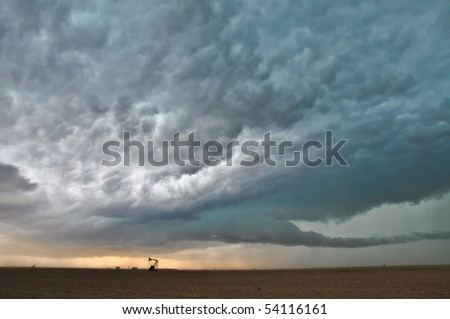 Storm in the dusk - stock photo