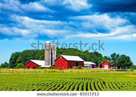 Storm is Coming on American Country - stock photo