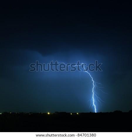 Storm lightning - stock photo