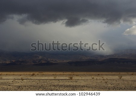 Storm near Death Valley, California - stock photo