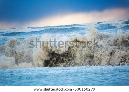 Storm on the Black sea in december