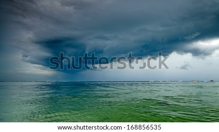 Storm on the island of Bali, Indonesia - stock photo
