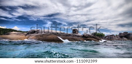 Storm on the sea. Nature composition - stock photo