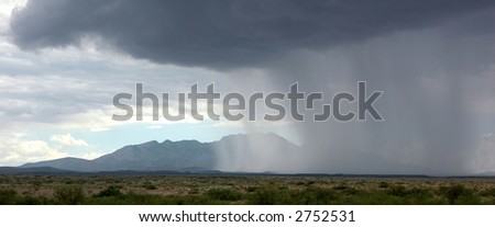 Storm over the Gallesteo mountains, New Mexico - stock photo
