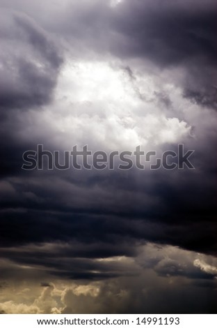Storm sky, may be used as background - stock photo