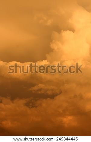 storm sky with clouds, apocalypse - stock photo