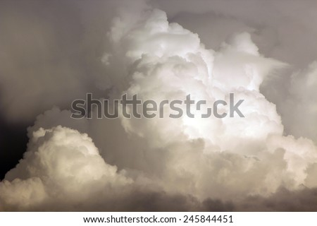 storm sky with clouds, apocalypse - stock photo