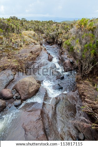 Storm stream on the slopes of Kilimanjaro - Tanzania