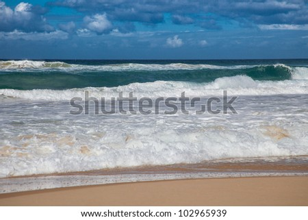 Storm waves in Surfers Paradise, Gold Coast, Queensland, Australia - stock photo