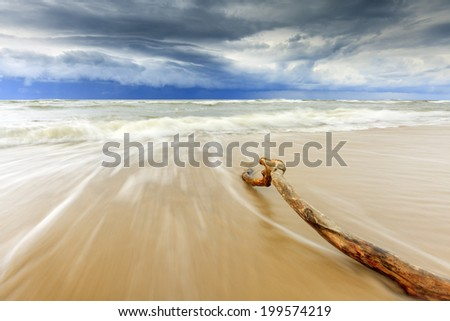 Stormy Baltic in north Poland/Stormy Baltic - stock photo