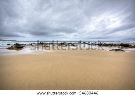 Stormy beach Australia - stock photo