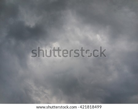 Stormy Cloud in the sky before rain is coming. - stock photo