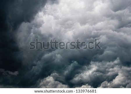 Stormy Clouds - stock photo