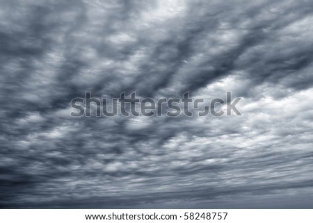 stormy clouds cloudscape dark gray cloudy winter day - stock photo