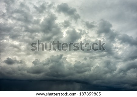 Stormy clouds on spring evening in Greece