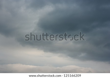 Stormy clouds on summer evening. - stock photo