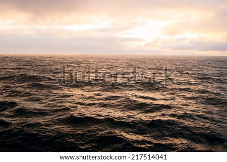stormy coastline - stock photo