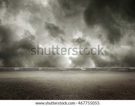 Stormy grey cloudy sky background in closeup
