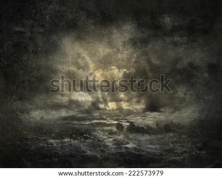 Stormy landscape - stock photo