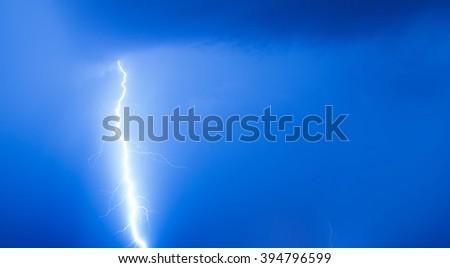 Stormy lightning bolt - stock photo