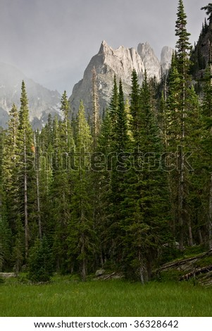 Stormy mountain - stock photo