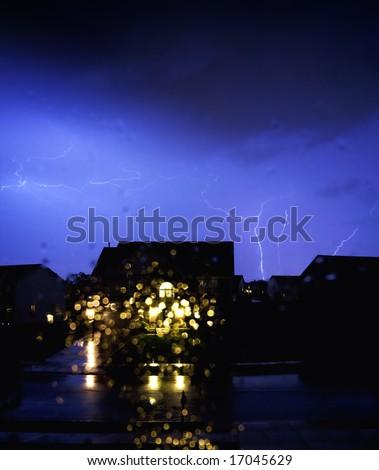 Stormy night - stock photo