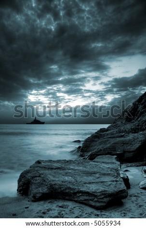 Stormy ocean - stock photo