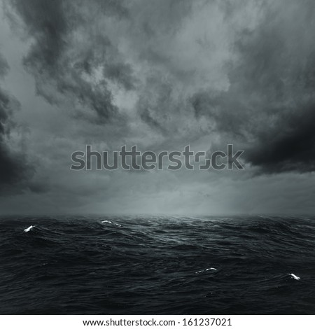 Stormy ocean, abstract natural backgrounds for your design - stock photo