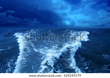 Stormy ocean background. - stock photo